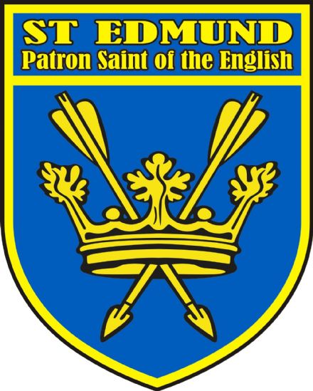 St Edmund Coat of Arms Car Sticker